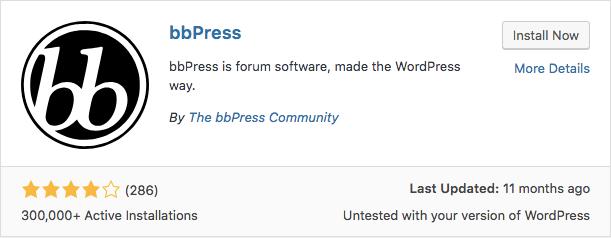 plugin bbPress