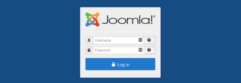 La schermata di accesso della dashboard di Joomla CMS