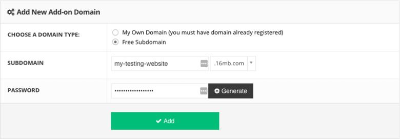 Realizzare un sito Web di staging utilizzando un sottodominio gratuito fornito da Hostinger