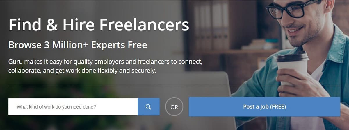 Guru freelance website
