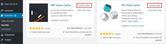 WordPress Eklentileri Yeni Ekle Sayfası
