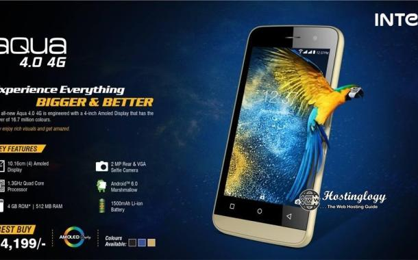 Intex Aqua 4.0 4G with VoLTE Launched in India at Rs 4,199