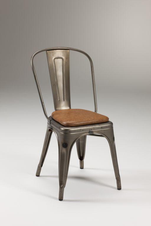 Sedia in metallo zincato Fero