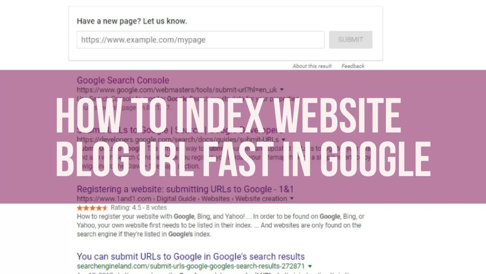 How to Index website, How to Index website blog url fast in google