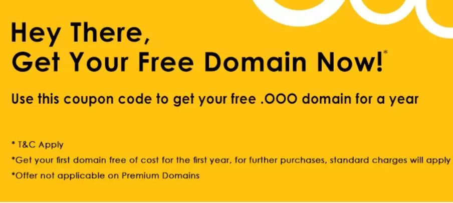 How to Get Free .OOO Domain Name For 1 Year