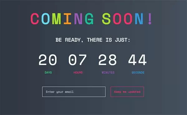Coming Soon, WordPress Coming Soon Page