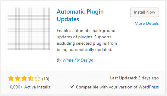 Auto Update WordPress Plugins