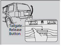 Opening/Closing the Tailgate Using the Tailgate Release