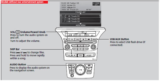 Playing a USB Flash Drive :: Audio System Basic Operation