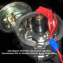 Ford 289 Distributor Wiring Diagram How To Make A Electronic Ignition Conversion Kits For Inboard Marine Engines Hot Spark 3hit4u1 Kit In Honda Accord 4 Cylinder