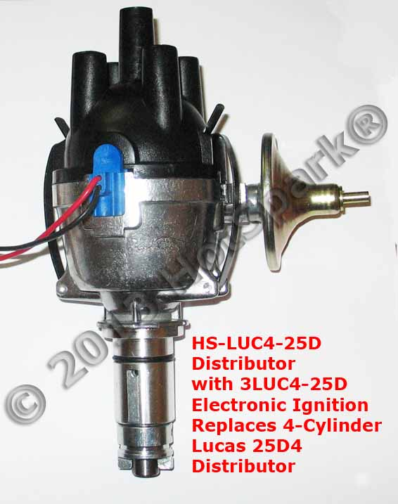 msd ignition wiring diagram ford 1998 contour fuel pump new 25d4 replacement electronic distributor for vehicles with points-based lucas 25d, vacuum ...