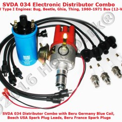 4y Electronic Distributor Wiring Diagram Eaton Hand Off Auto Hot Spark Ignition Conversion Kit Replaces Points All Combo With Svda Beru Germany Blue Coil