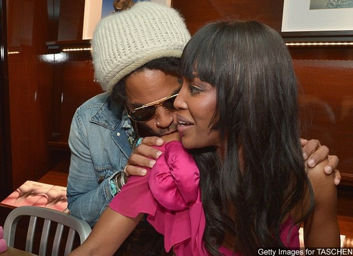 Are They Dating? Lenny Kravitz Plants a Kiss on Naomi Campbell's Shoulder