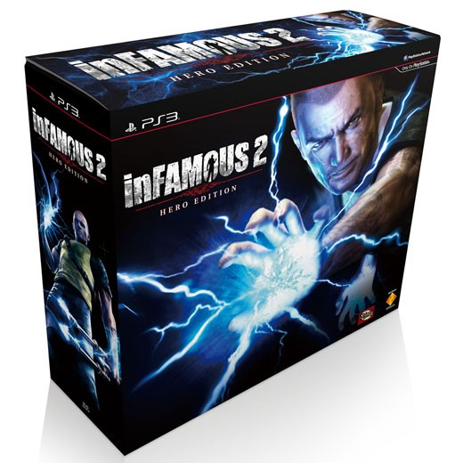 PS3 遊戲『inFAMOUS 2』Hero Edition限定版同梱組 6/7 發售預定 - [哈燒王 Hot3c]