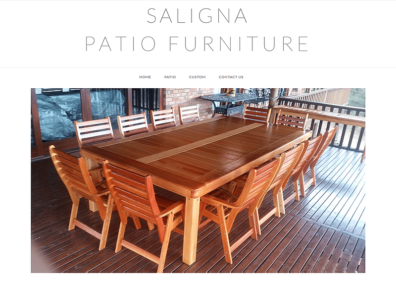 Saligna Patio Furniture – Affordable high quality patio furniture - Website by HOTarabica