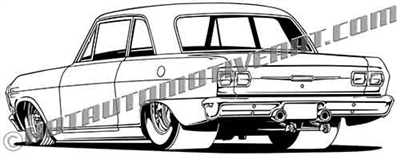 1963 chevy II clip art value image, buy two images, get