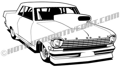 1963 chevy II vector clipart, buy two images, get one free