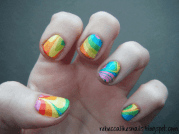 marble nail art design worth