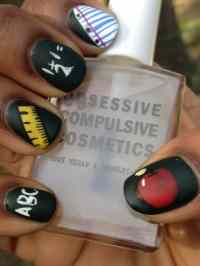 10 Cute Back to School Nail Designs