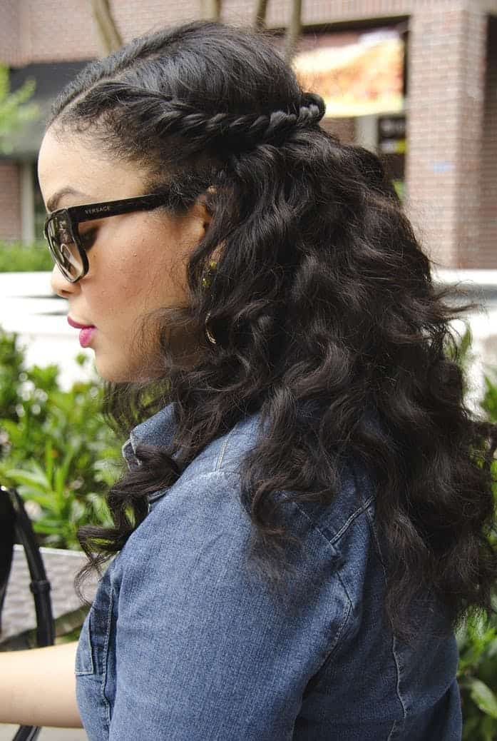 10 Easy Half Up Half Down Hairstyles For Natural Hair Gals Hot