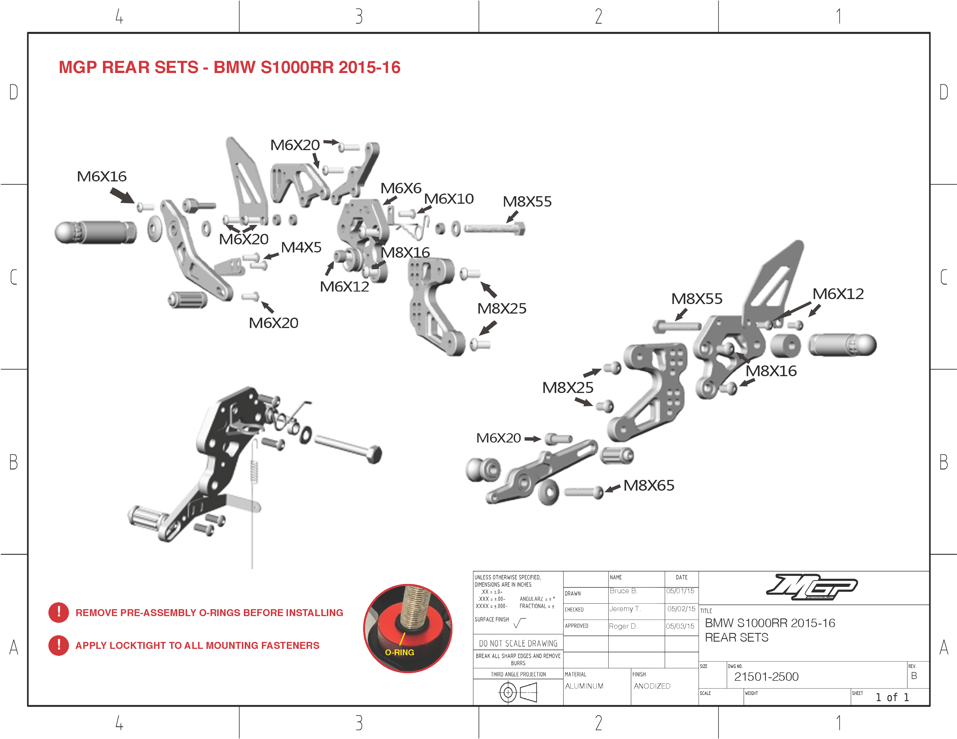 S1000RR 2015-19 & S 1000 R 2019 MGP Rearsets
