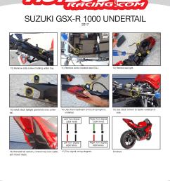 gsx r 1000 2017 undertail installation [ 2550 x 3300 Pixel ]