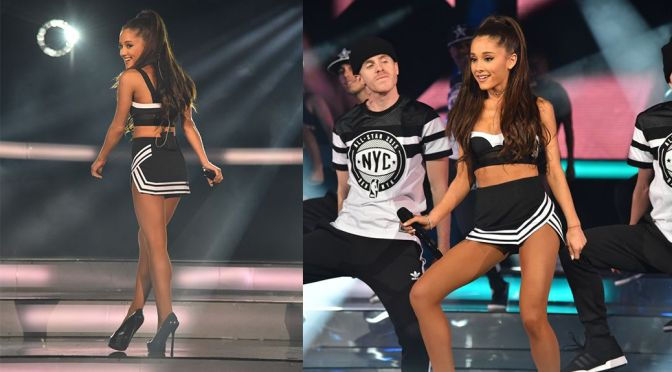 Ariana Grande Perforsm Live at NBA All-Star Game in New York