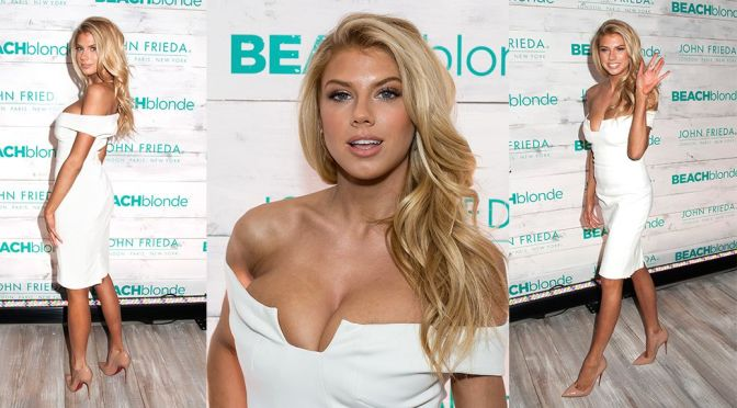 Charlotte McKinney – John Frieda Hair Care Beach Blonde Collection Party