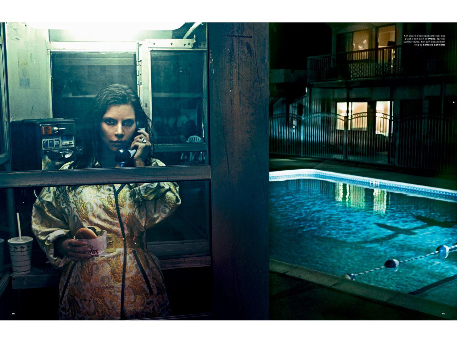 Kim Kardashian gola u magazinu Love (17 fotografija)