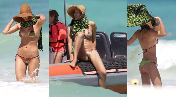 Irina Shayk – Bikini Candids in Mexico
