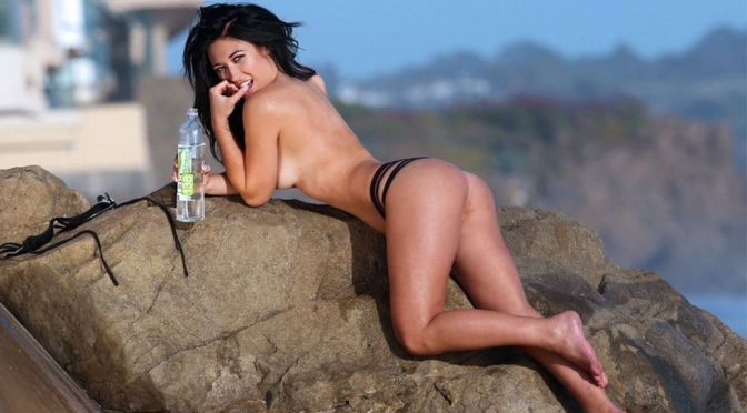 "Stefanie Knight – ""138 Water"" Topless Photoshoot Candids in Malibu"