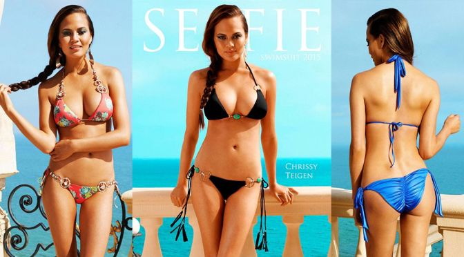 Chrissy Teigen – Selfie Swimsuit 2015 Magazine