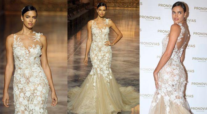 "Irina Shayk - ""Pronovias"" Fashion Show in Barcelona"