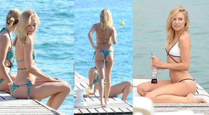 Kimberley Garner – Bikini Candids in Cannes