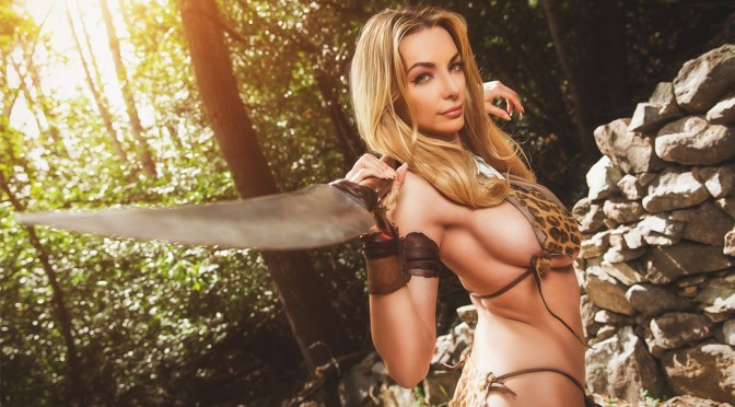 Lindsey Pelas – Jungle Girl! Photoshoot by Mike Saffels