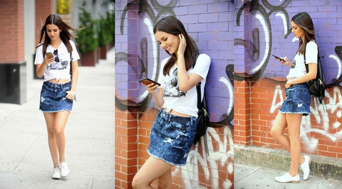 Victoria Justice – Leggy Candids in New York City