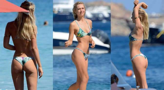 Alexis Ren – Bikini Candids in Greece