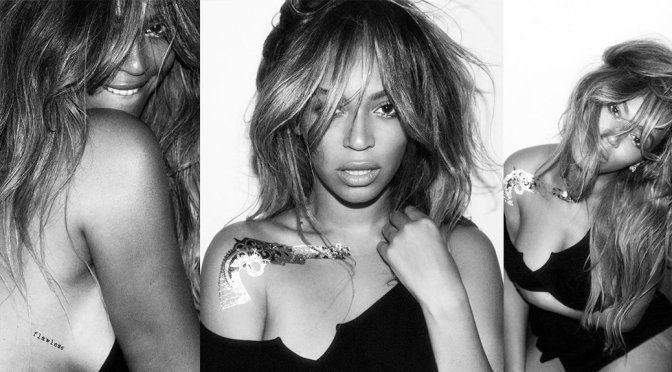 Beyonce – Flash Tattoos Collection Photoshoot