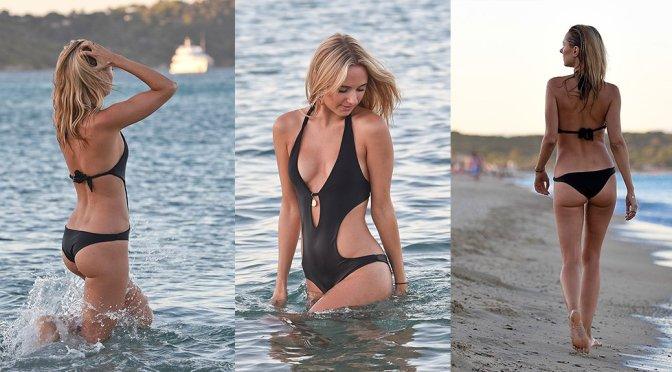 Kimberley Garner – Swimsuit Candids in St. Tropez