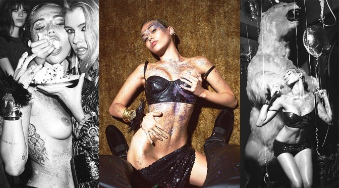 Miley Cyrus – W Magazine Topless Photoshoot (September 2015)
