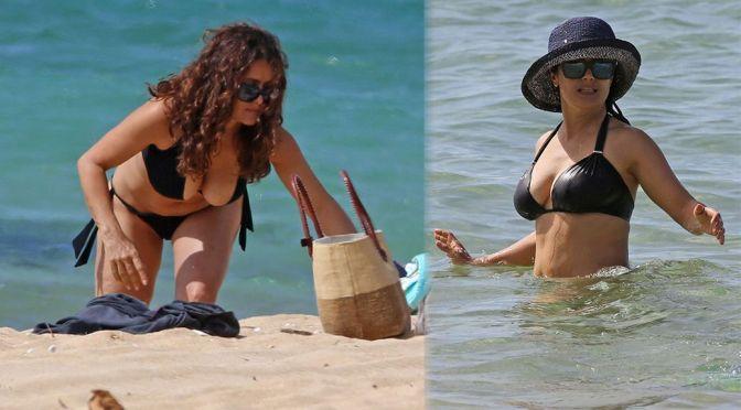 Salma Hayek – Bikini Candids in Hawaii