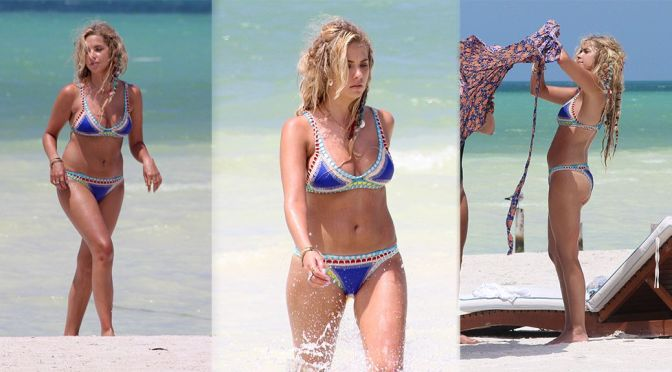 Ashley Benson – Bikini Candids in Mexico