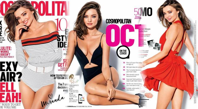 Miranda Kerr – Cosmopolitan Magazine (October 2015)