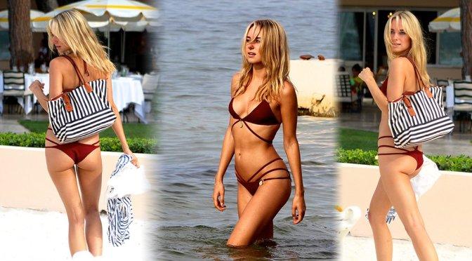 Kimberley Garner - Bikini Candids in St Tropez