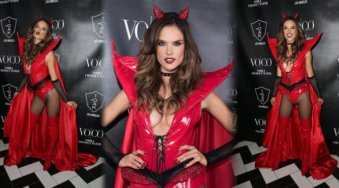 Alessandra Ambrosio - Heaven and Hell Halloween Party