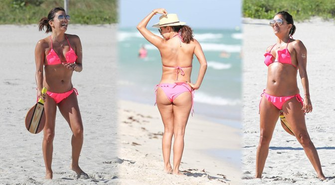 Eva Longoria - Bikini Candids in Miami