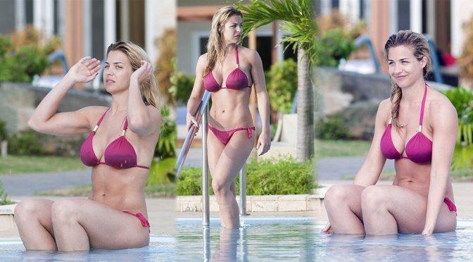 Gemma Atkinson – Bikini Candids in Cuba