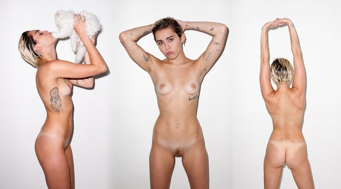 Miley Cyrus  Candy Magazine Naked Photoshoot By Terry -6992