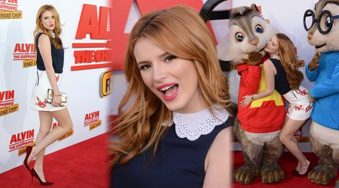 """Bella Thorne – """"Alvin and The Chipmunks: The Road Trip"""" Premiere in Los Angeles"""