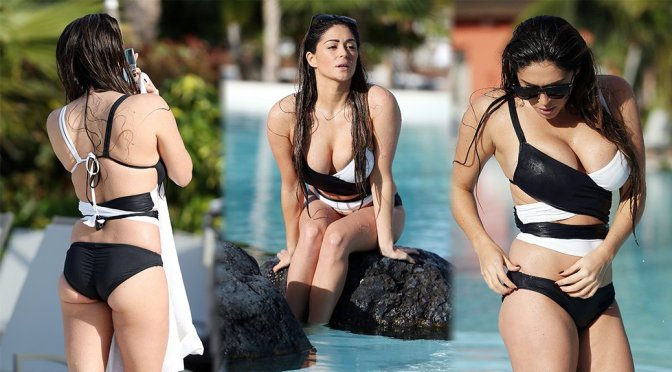 Casey Batchelor – Bikini Candids in Tennerife
